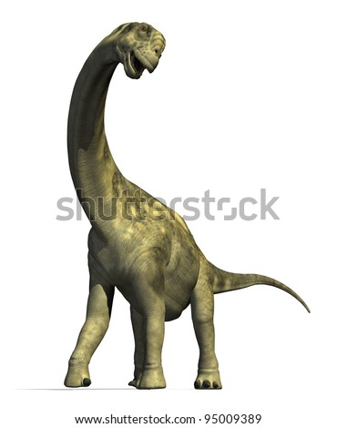 The Camarasaurus dinosaur lived in North America during the late Jurassic Period - 3D render. - stock photo