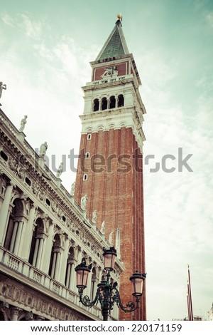 The Campanile di San Marco in Venice, Italy. - stock photo