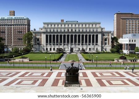 The campus of New York City's Columbia University, an Ivy League school. - stock photo