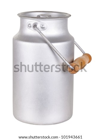 The can for milk, isolated on white background - stock photo