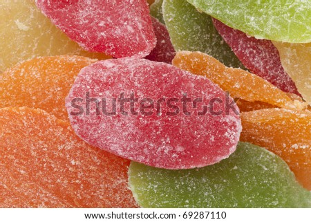 The candied fruit - stock photo