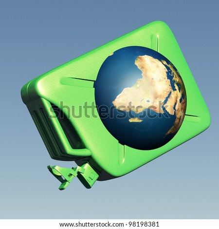 The canister with the earth. Concept of dependence on oil - stock photo