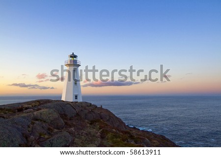 The Cape Spear lighthouse. - stock photo