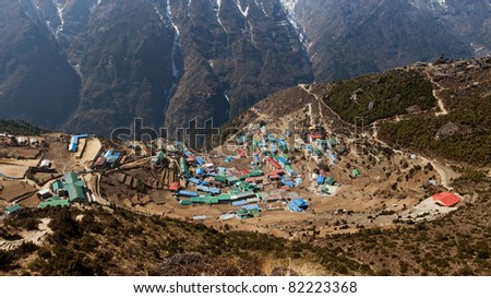 The capital of the sherpas Namche Bazar