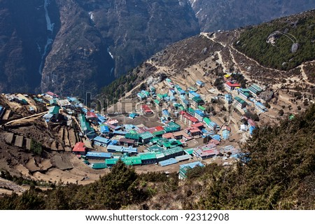 The capital of the sherpas - Namche Bazar, Nepal