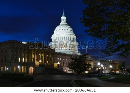 The Capitol at night - Washington D.C. United States of America