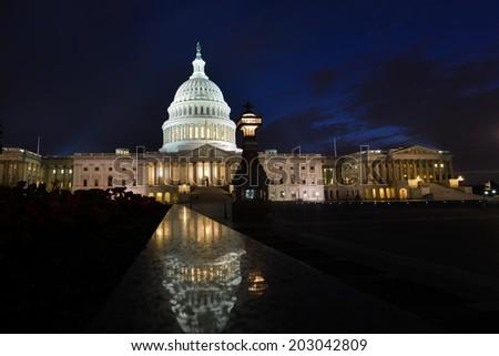 The Capitol at night - Washington D.C. United States of America  - stock photo