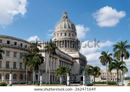 The Capitol Building in Havana, Cuba - stock photo