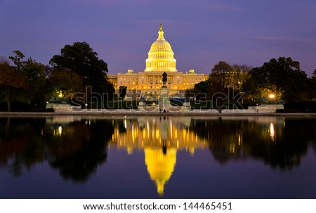 The Capitol Building, Washington DC, USA - stock photo