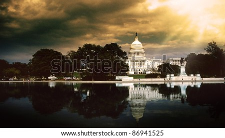 The Capitol Builting in Washington D.C. USA - stock photo