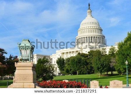 The Capitol in Summer - Washington D.C. United States of America - stock photo