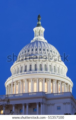 The Capitol of the USA at night - stock photo