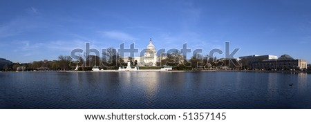 The Capitol of the USA at sunset - stock photo
