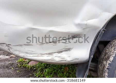 The car has dents - stock photo