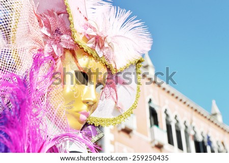 The carnival of Venice - stock photo