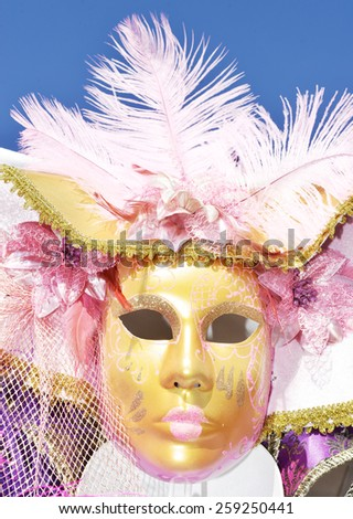 The carnival of Venice, a mask - stock photo