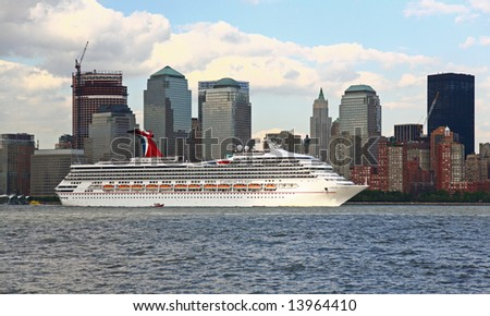 Carnival Victory Cruise Ship Leaving New Stock Photo - What cruise ships leave from nyc