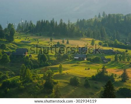 The Carpathian Mountains - stock photo