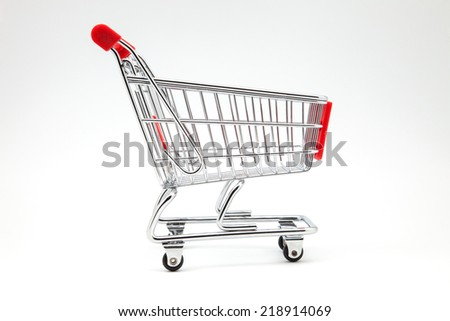 the cart's supermarket on white background - stock photo