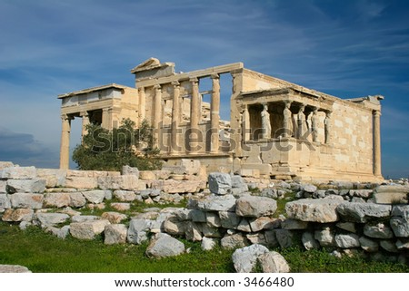 The Caryatids - stock photo