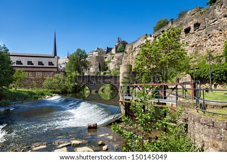 The Casemates of the old fortress in Luxembourg - stock photo
