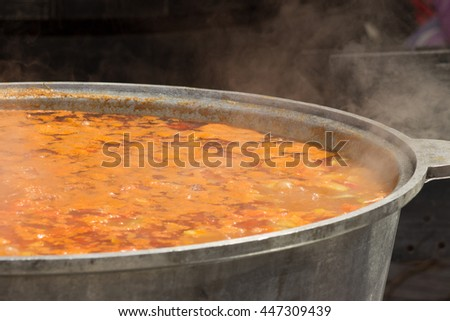 The cast-iron pan with bograch - stock photo