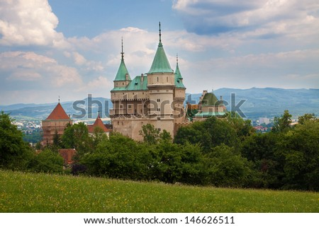 The Castle Bojnice located in Slovakia. /Europe/ - stock photo