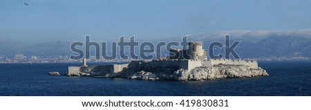 The castle Chateau dIf near Marseille, France   - stock photo