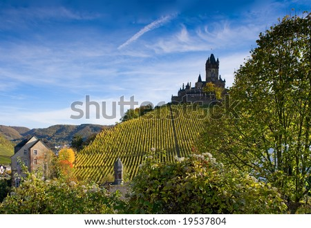 The castle in Cochem, Germany (Rhineland-Palatinate) - stock photo