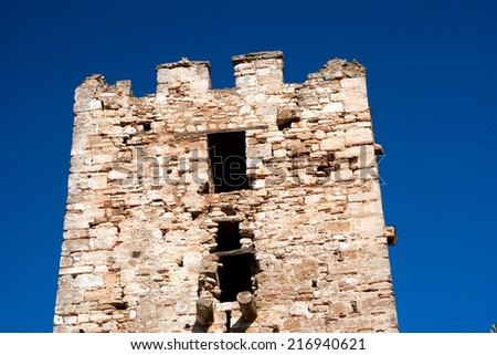 The castle in the seaside Chalkidiki, Greece - stock photo