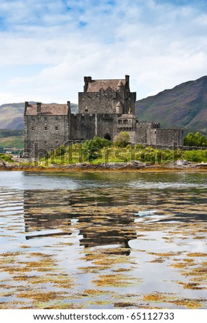 The castle is one of the most photographed monuments in Scotland and a popular venue for weddings and film locations - stock photo