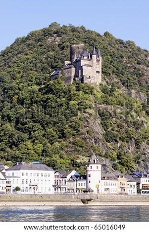 "The Castle ""Katz"" Loreley Germany - stock photo"