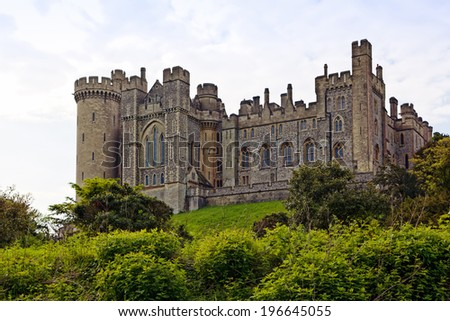 The castle of Arundel, West Sussex, UK