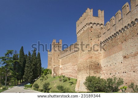 The Castle of Gradara, Italy - stock photo