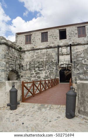 The Castle of the Force main entrance bridge (II) - stock photo