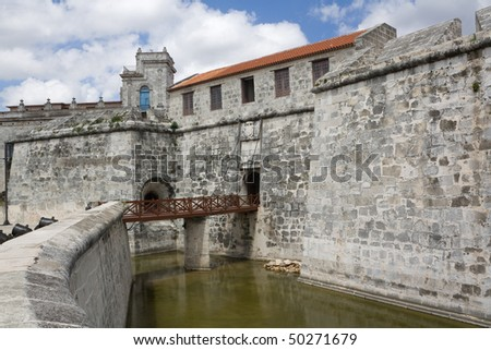 The Castle of the Force main entrance, in Havana (II) - stock photo