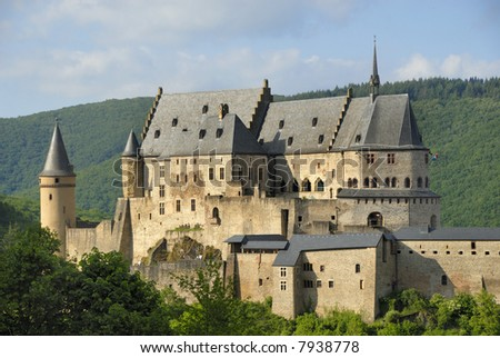 The castle of Vianden in Luxembourg, Europe - stock photo