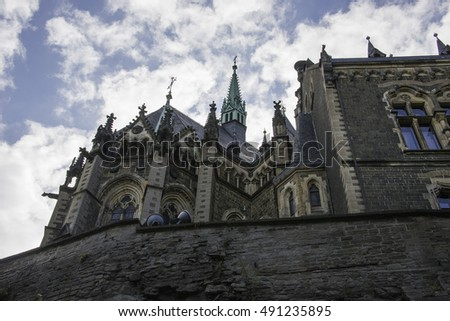 the castle of wernigerode in the village called wernigerode