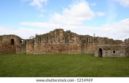 the castle ruin - stock photo