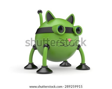 The cat robot  - stock photo