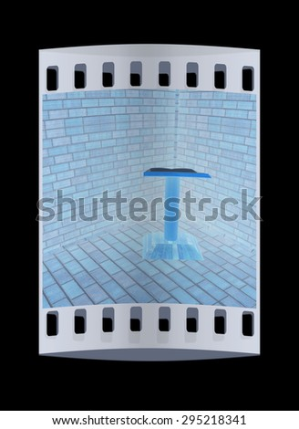 The cathedra in the corner of a brick. The film strip - stock photo