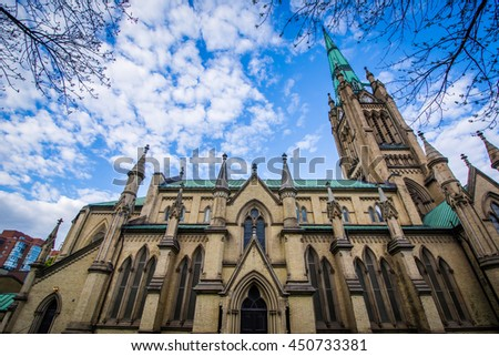 The Cathedral Church of St. James in Toronto, Ontario. - stock photo
