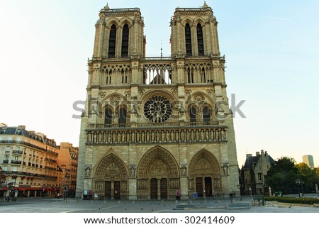 The cathedral Notre Dame in Paris, France
