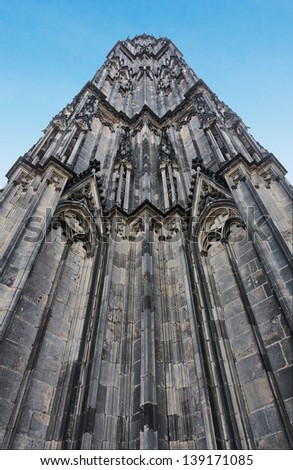 The cathedral of Cologne. The tower - stock photo
