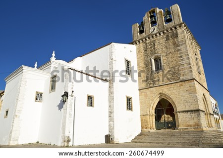 The Cathedral of Faro (Se de Faro) is a Roman Catholic cathedral in Faro, Portugal - stock photo