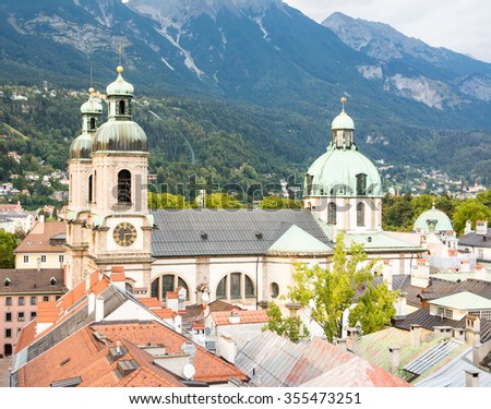 The Cathedral of Innsbruck (Tyrol, Austria) - stock photo