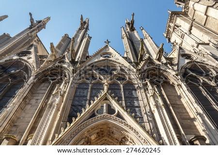 The Cathedral of Notre Dame de Paris, France - stock photo