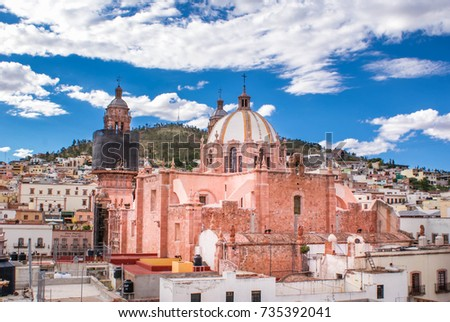 The Cathedral of Our Lady of the Assumption of Zacatecas, Mexico. Unesco World Heritage site.