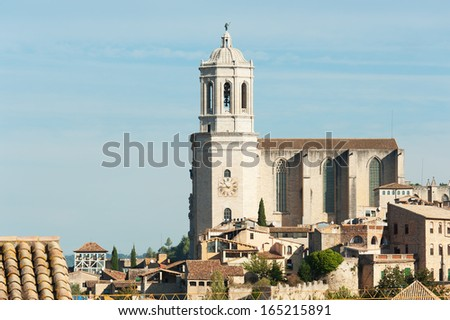 The Cathedral of Saint Mary of Girona. Girona, Spain - stock photo