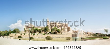 The Cathedral of Santa Maria of Palma in Palma de Mallorca, Majorca, Balearic Islands, Spain - stock photo